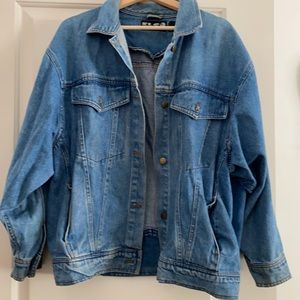 Vintage unisex Denim Jacket Large 90's